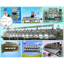 New 6 heads 15 colors embroidery machine textile sewing with 15 needles