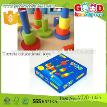 promotional discounts wooden toy torreta educational toys OEM preschool teaching toys for kids MDD-1026