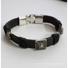 Popular Pulsera de cuero pulsera de color fresco pulsera pulsera de metal PSL029