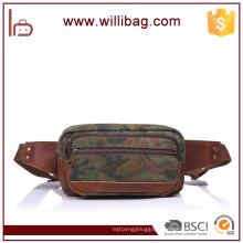 Hot Sales Retro Outdoor Sport Running Genuine Leather Waist Bag