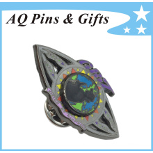 Two Layared Metal Badge in Soft Cloisonne with Spinner (badge-156)