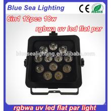 Pars led wifi motor show light 12pcs 18W LEDs wireless par
