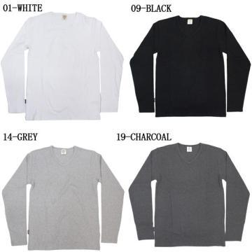 Camiseta masculina de manga comprida em branco 100% algodão