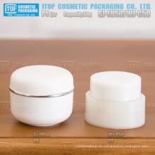 WJ-C50 50g venta caliente buena mano sintiendo tan rentable acabado brillante 50g oval cosméticos crema pp jar