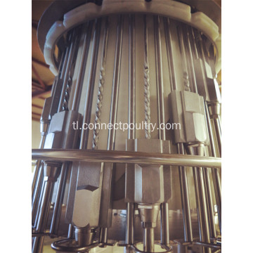 Chicken processing line cropper