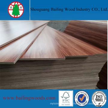 Madera contrachapada del color del grano de madera de la melamina para los muebles de alta calidad
