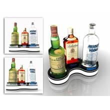 Led light acrylic bottle glorifier