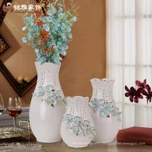 Wholesale hotel home decoration white ceramic flower vase