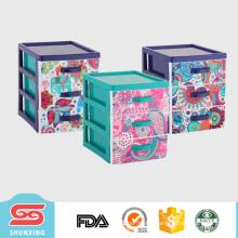 multipurpose plastic material organizer makeup with decorative pattern printed