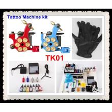 Tattoo Kits 2 New Machine Gun Power Needles 7 Ink