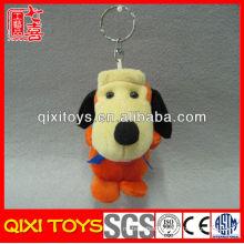 Cute mini brown stuffed plush dog toy plush dog keychain