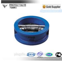 Ductile ferro água wafer tipo válvula de retenção dupla placa mola borboleta conjunto baixa pressão válvula de retenção preço para dreno