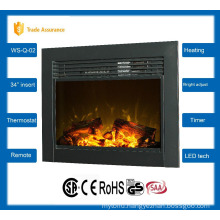 """34"""" classic insert electric fireplace large room heater 110-120V/60Hz"""