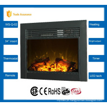 """34 """"clássico inserir lareira elétrica grande sala de aquecedor 110-120V / 60Hz"""