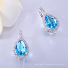 Fornecedor do fabricante por atacado cubic zirconia earrings findings com preço mais barato