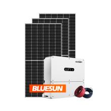 Bluesun 25kva 30kva solar power energy systems ongrid price per watt solar power system