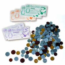 Moneda de dinero de plástico como juguete de aprendizaje