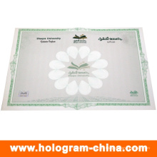 Custom Anti-Fake Hot Stamping Foil Watermark Certificate