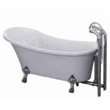 Classic Acrylic Clawfoot Bathtub with Four Legs
