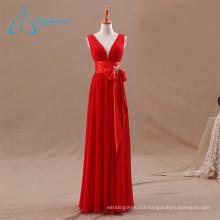 Pleat Bow Sashes Modern Bridesmaid Dresses
