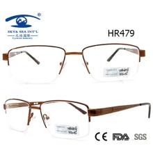 Estrutura de espetáculo de óculos de metal com meia-estrutura de estilo mais novo (HR479)