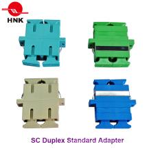 Sc Duplex Singlemode, Multimode, Om3 and APC Fiber Optic Adapter
