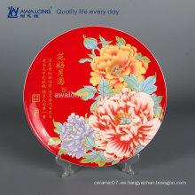 Bastante Diseño Flor Pintura Foto Personalizada Hueso Fino China Decorativas Platos De Mosaico, Decorativas Placas De Cerámica Para La Boda