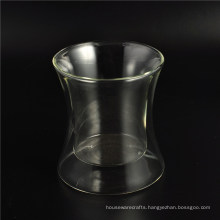 Hand Mde Mouth Blown Borosilicate Double Wall Highball Glass