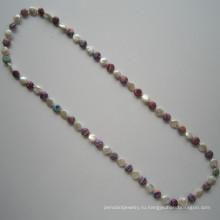 Длинные Горячие Продаем пресноводных жемчужное ожерелье, ювелирные изделия