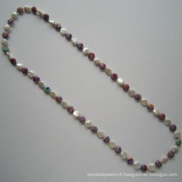Temps chaud vendre collier de perles d'eau douce, bijoux fantaisie