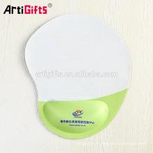 Fabrication de tapis de souris personnalisés imprimés promotionnels de logo avec le soutien de poignet de gel