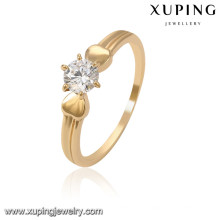 13965 Xuping wholesale 18k gold color women simple rings