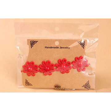 Red Daisy Lace Accessories Female Fashion Handmade Anklets