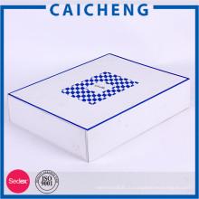 Большой размер складной бумажной коробки белые картонные коробки для одежды
