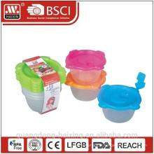 Micro-onde en plastique alimentaire contenant 0.35L(2pcs)