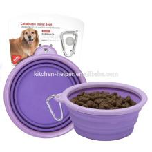 Atacado Promocional Impermeável Non-stick Food Grade Silicone Pet Products Pet Bowls / colapsável Pet Dog Cat Bowl