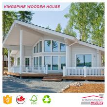 casa de guardia prefabricada de la casa de madera del registro del chalet de madera