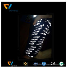 Cheap glow in the dark elastic film reflective logo for sportsuit