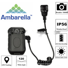 Waterproof Ambarella 2.0 inch IR Night Vision GPS Location 1080P Full Hd Portable wirless Police video Body Worn Camera