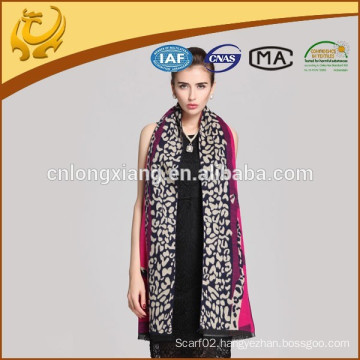 2015 Latest Kashmiri-Shawls For Wholesale Yarn Dyed Leopard Design Suitable For Womens In The Winter