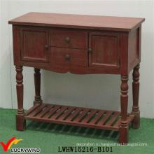 Ручная роспись Vintage Console Античный красный деревянный стол