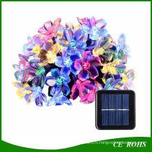 Открытый солнечные огни строки 21 фут 50 LED Blossom цветок Фея свет для свадьбы сад Патио вечеринку Новогоднее украшение спальня