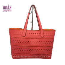 Carved Patterns Candy-Color Tote Shopper N-1119