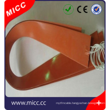 Silicone DC electric heater for micc