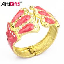Pulsera amistosa del encanto afortunado de encargo de la joyería del brazalete del metal de la joyería respetuosa del medio ambiente