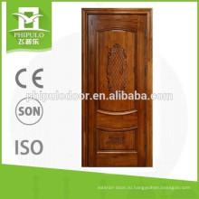 Уникальный дизайн двухпанельной внутренней двери из тикового дерева, сделанный в Китае