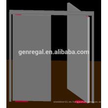Puerta de doble batiente de acero para pasillo