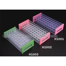 Gradilla para tubos de ensayo con certificación CE y FDA de 40 pocillos, 50 pocillos