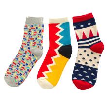 Women′s Cotton Crew Socks (WA049)
