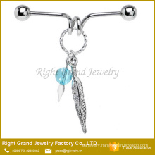 Handcrafted Dreamcatcher Surgical steel Ear Industrial Barbell